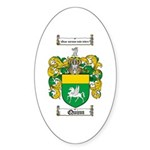 Quinn Family Crest Oval Sticker