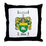 Quinn Family Crest Throw Pillow