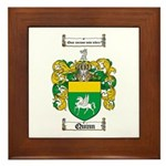 Quinn Family Crest Framed Tile