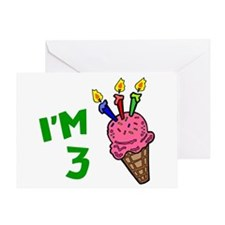 3rd Birthday (Ice Cream Cone 1) Greeting Card