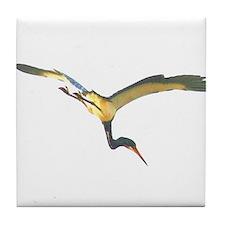 Tricolored Heron Tile Coaster