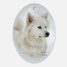 American Eskimo Dog Oval Ornament