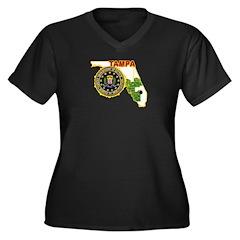 Tampa FBI Women's Plus Size V-Neck Dark T-Shirt