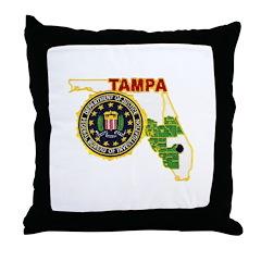 Tampa FBI Throw Pillow