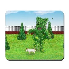 Jack Russell Terrier Peeing on Bear Bush Mousepad