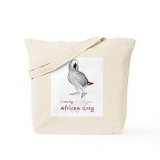 i love african greys Tote Bag