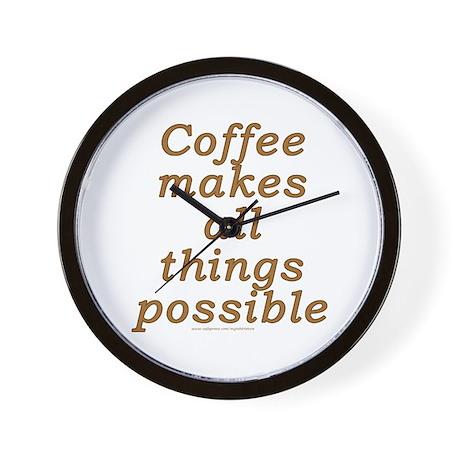 Funny Coffee Joke Wall Clock