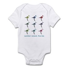 9 sandpipers | sanibel island Infant Bodysuit