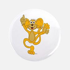 "Cartoon Orange Monkey 3.5"" Button"