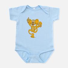 Cartoon Orange Monkey Infant Bodysuit