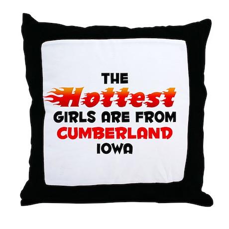 Hot Girls: Cumberland, IA Throw Pillow