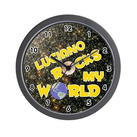 Luciano Rocks My World (Gold) Wall Clock