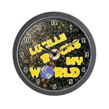 Lucille Rocks My World (Gold) Wall Clock