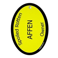 Spoiled Affen Owner Oval Ornament
