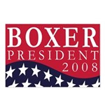 Boxer for President 2008 (8 postcards)