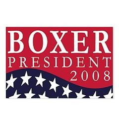 Boxer for President 2008 (8 postcards)