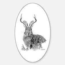 Jackalope Oval Decal
