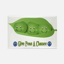 Give Peas A Chance Rectangle Magnet (100 pack)