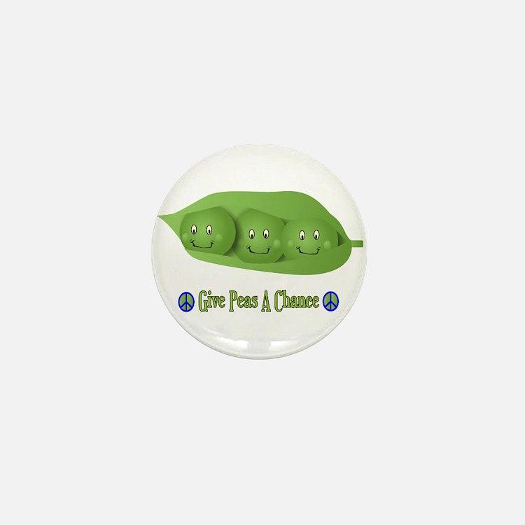 Give Peas A Chance Mini Button