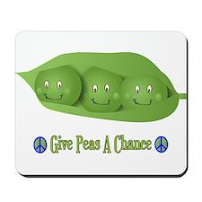 Give Peas A Chance Mousepad