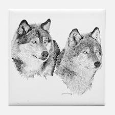 Lone Wolves Tile Coaster