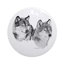 Lone Wolves Ornament (Round)