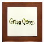 Green Queen Framed Tile