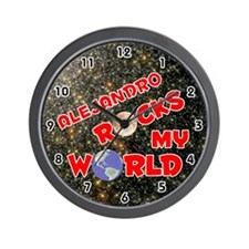 Alejandro Rocks My World (Red) Wall Clock