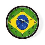 Brazilian Flag Wall Clock