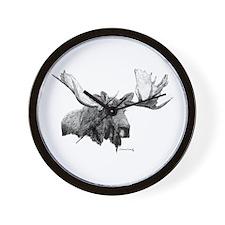 Bull Moose Wall Clock