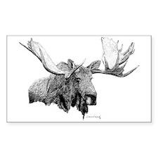 Bull Moose Rectangle Decal