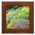 Gardeners are perennial Framed Tile