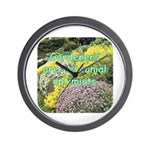Gardeners are perennial Wall Clock