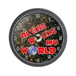 Alexis Rocks My World (Red) Wall Clock