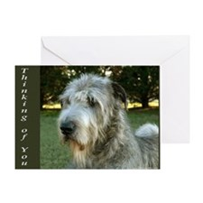 Irish Wolfhound Greeting Card - Thinking of you