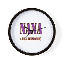 CLICK TO VIEW Nana Wall Clock