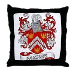 Parsons Coat of Arms Throw Pillow