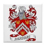 Parsons Coat of Arms Tile Coaster