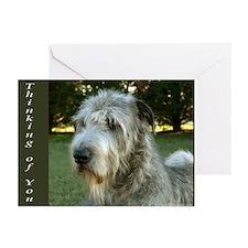 20 Irish Wolfhound Greeting Cards Thinking of U