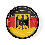 German Flag Wall Clock