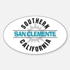 San Clemente California Sticker (Oval)