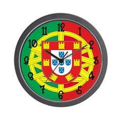 Portugal Flag Wall Clock