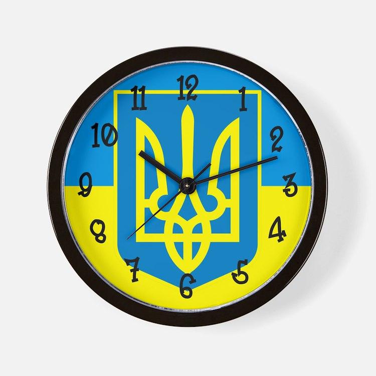 Ukraine Flag Wall Clock
