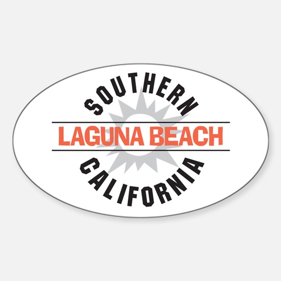 Laguna Beach California Sticker (Oval)