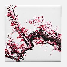 Plum Blossom Tile Coaster