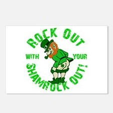 Rock Out with your Shamrock Out Postcards (Package