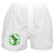 Rock Out with your Shamrock Out Boxer Shorts