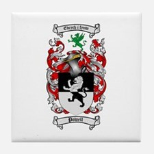 Powell Family Crest Tile Coaster
