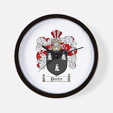 Porter Family Crest Wall Clock