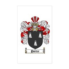 Porter Family Crest Rectangle Decal